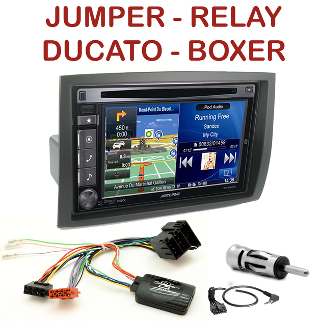 autoradio alpine gps citro n jumper relay fiat ducato boxer autoradios. Black Bedroom Furniture Sets. Home Design Ideas