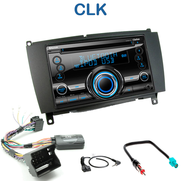 autoradio 2 din clarion poste cd usb mp3 wma mercedes clk autoradios. Black Bedroom Furniture Sets. Home Design Ideas