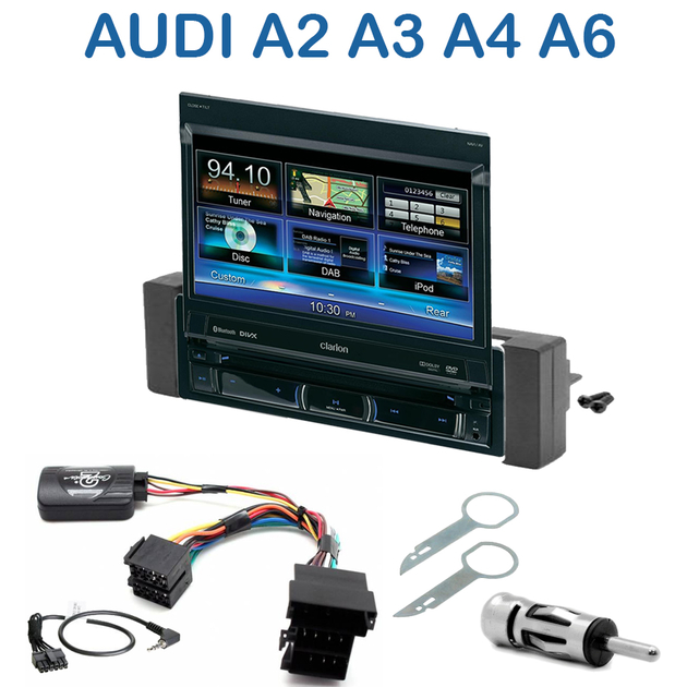autoradio 1 din gps cran motoris audi a2 de 2000 2005 a3 de 2000 a4 de 1999 2001 a6 de. Black Bedroom Furniture Sets. Home Design Ideas