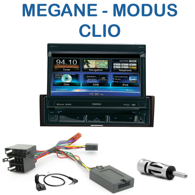 autoradio 1 din gps cran motoris renault megane ii de 2003 05 2009 modus depuis 08 2004. Black Bedroom Furniture Sets. Home Design Ideas