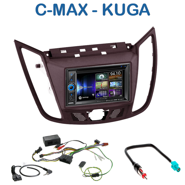 autoradio gps dvd navigation ford c max et kuga autoradios. Black Bedroom Furniture Sets. Home Design Ideas