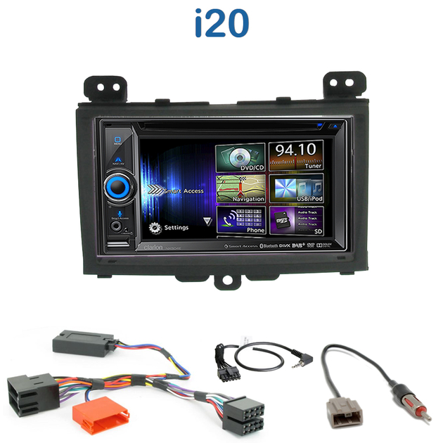 autoradio gps hyundai i20 poste navigation dvd bluetooth. Black Bedroom Furniture Sets. Home Design Ideas