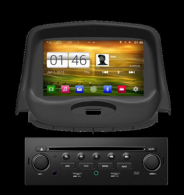 poste gps peugeot 206 autoradio android mains libres usb dvd autoradios. Black Bedroom Furniture Sets. Home Design Ideas