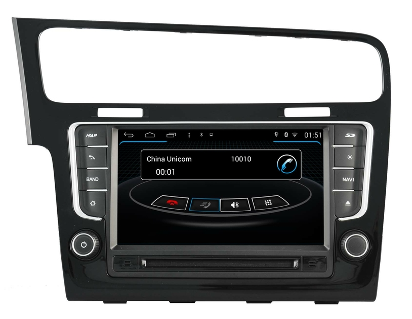 poste gps volkswagen golf vii autoradio android vw mains. Black Bedroom Furniture Sets. Home Design Ideas