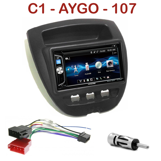 autoradio usb mp3 alpine citro n c1 toyota aygo peugeot 107 autoradios. Black Bedroom Furniture Sets. Home Design Ideas