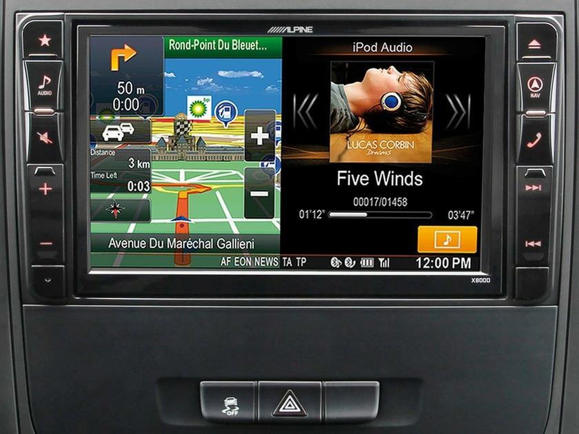 autoradio gps tactile alpine style x800d v447 mercedes vito. Black Bedroom Furniture Sets. Home Design Ideas