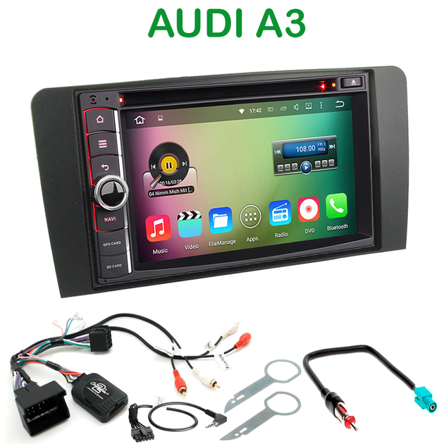 poste audi a3 autoradio gps anroid audi bluetooth streaming audio autoradios gps. Black Bedroom Furniture Sets. Home Design Ideas