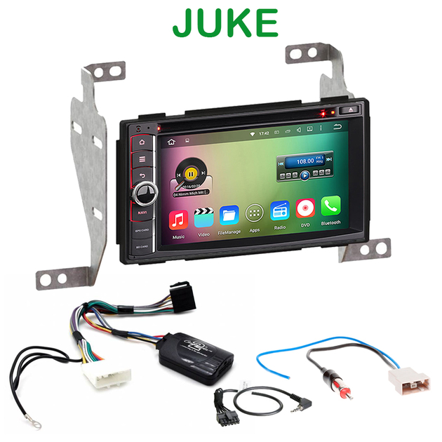 pack autoradio android gps nissan juke avec wifi bluetooth usb. Black Bedroom Furniture Sets. Home Design Ideas