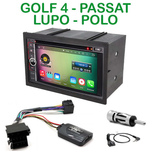 poste gps volkswagen autoradio android 6 0 golf 4 lupo polo autoradios. Black Bedroom Furniture Sets. Home Design Ideas