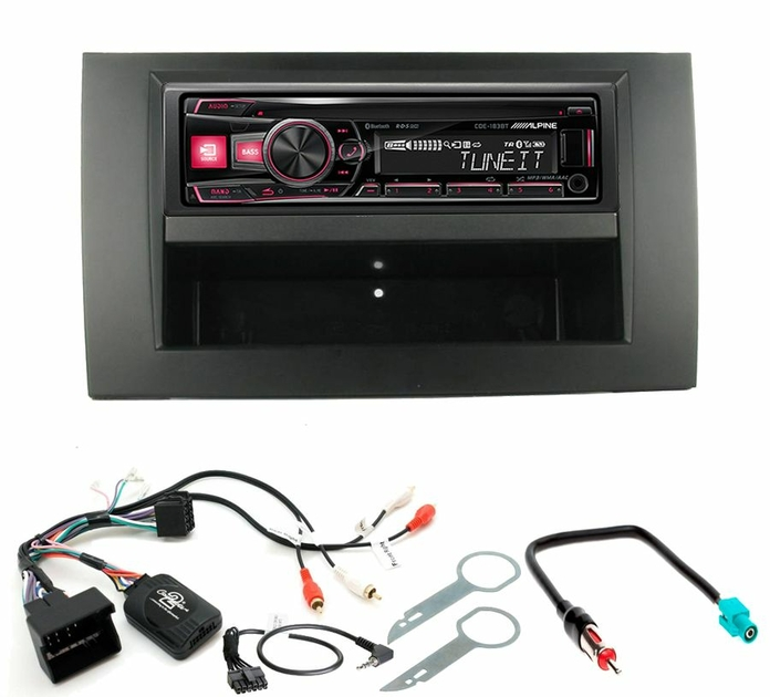 autoradio 1 din audi a4 poste cd usb mp3 bluetooth alpine audi autoradios. Black Bedroom Furniture Sets. Home Design Ideas