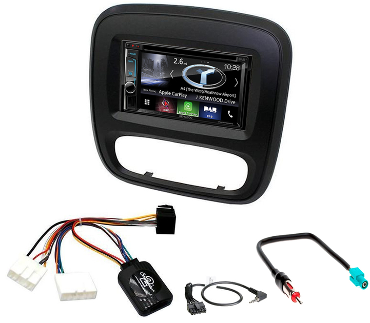 autoradio gps mains livres kenwood renault trafic depuis 2015 autoradios. Black Bedroom Furniture Sets. Home Design Ideas