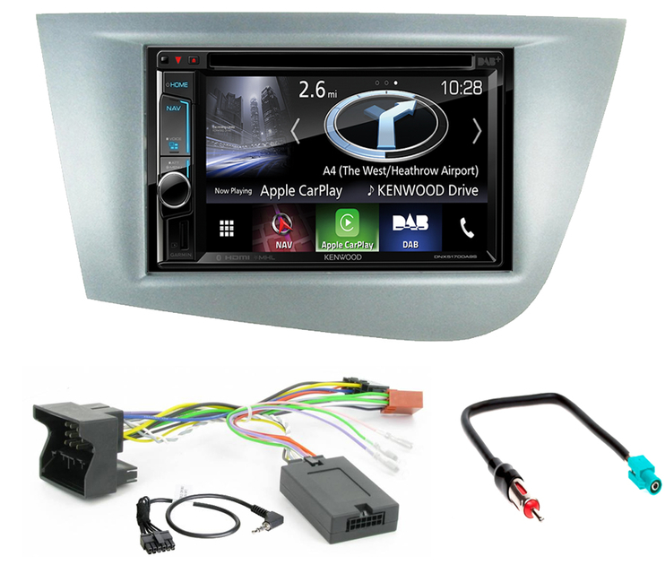 commandez votre autoradio gps carplay kenwood pour seat leon. Black Bedroom Furniture Sets. Home Design Ideas