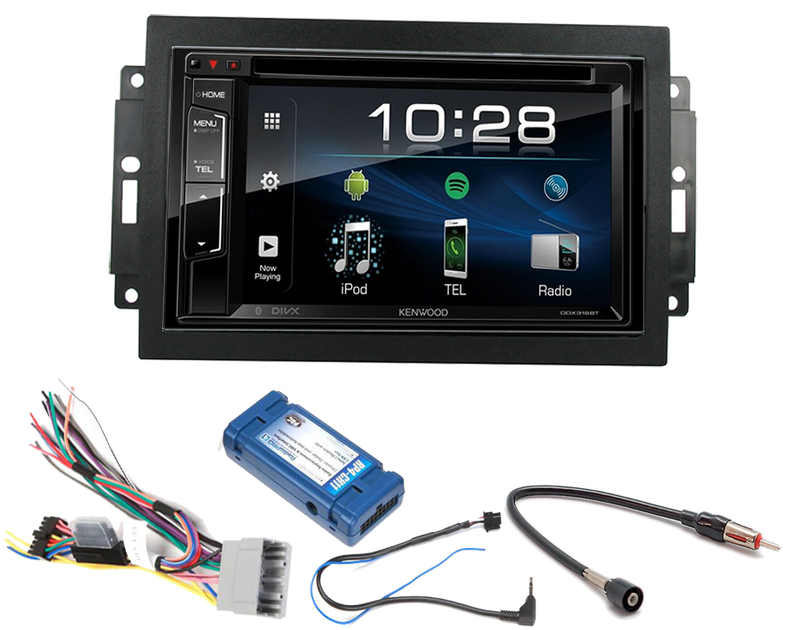 autoradio 2 din jvc et kenwood usb bluetooth dodge avec rej autoradios. Black Bedroom Furniture Sets. Home Design Ideas