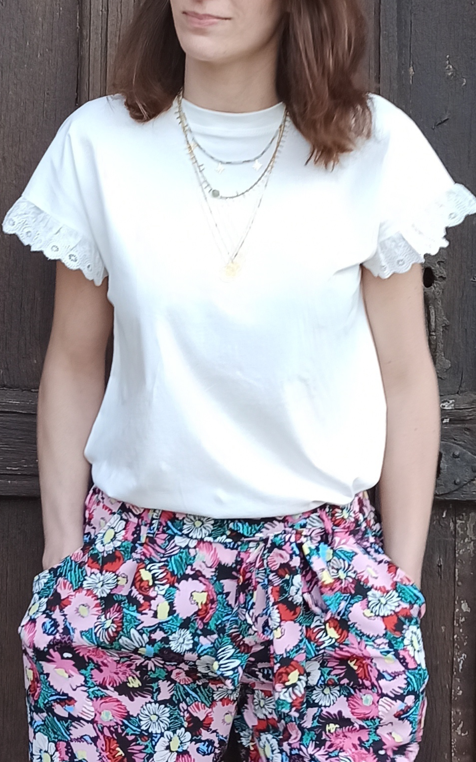 tee shirt Léni blanc