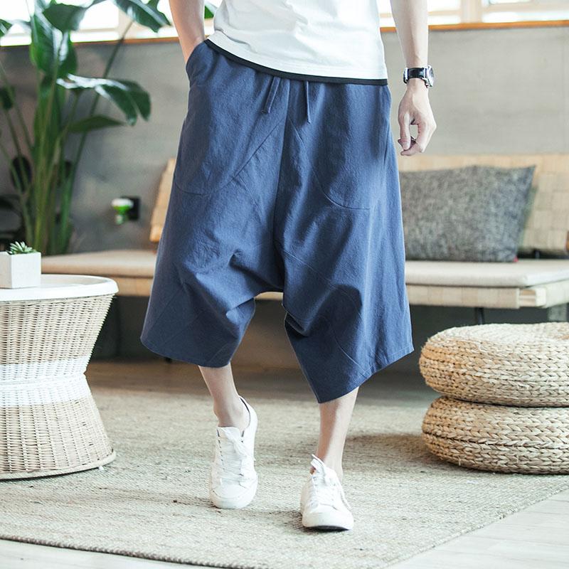 MRDONOO-Hommes-large-entrejambe-de-harem-pantalon-l-che-d-t-grand-recadr-e-pantalon-jambes