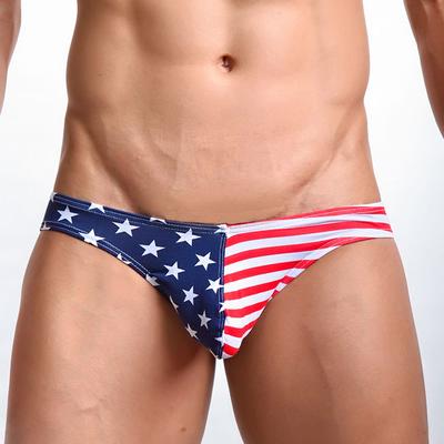 Slip taille basse drapeau américain