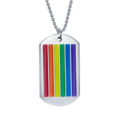 Collier et pendentif rainbow