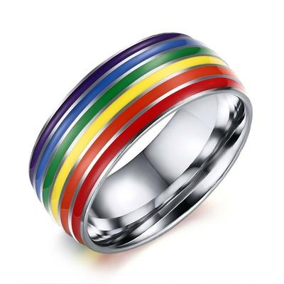Bague Rainbow Acier Inoxydable