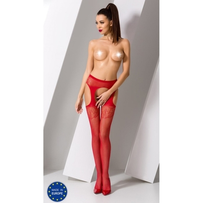 Collant Rouge Sexy S005 - TU