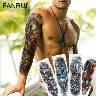 Tatouage temporaire homme bras complet