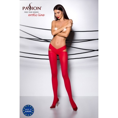 Collant Ouvert Rouge TI005
