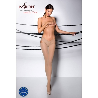 Collant Ouvert Beige TI005