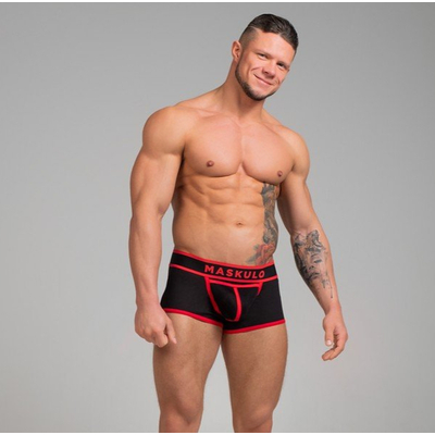 Boxer Coton Rouge Life by Maskulo