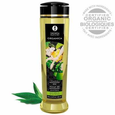 Huile de Massage Biologique Saveur Thé Vert - 240 ml