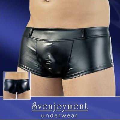 Boxer shorty noir effet mouillé