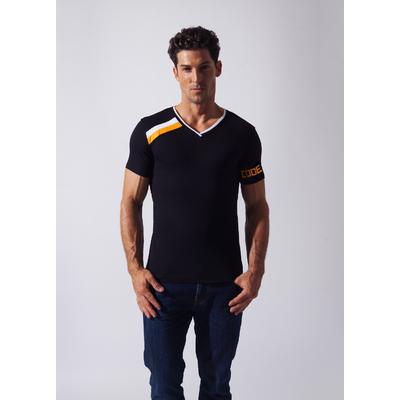 Tee-Shirt Asymmetric Sport noir CODE 22