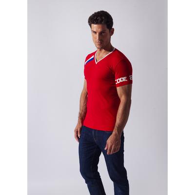 Tee-Shirt Asymmetric Sport rouge CODE 22