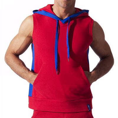 Sweat Hoody sans manche Sport rouge CODE 22
