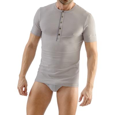 Tee-Shirt Line col Tunisien gris Geronimo