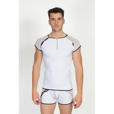 T-Shirt Mixing 2 Blanc Lookme