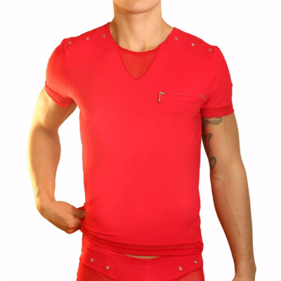 T-Shirt Open Spirit rouge Lookme