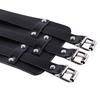 IEFiEL-Mode-Hommes-PU-Cuir-Extra-Large-Bracelet-Manchette-Bracelet-Bracelet-Ceinture-avec-Trois-Boucle-Fermoirs