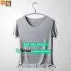 Xiaomi-T-shirt-manches-courtes-col-rond-pour-homme-v-tement-respirant-sans-couture-couleur-unie