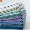 Xiaomi-t-shirt-manches-courtes-pour-hommes-v-tement-d-t-de-couleur-unie-en-coton