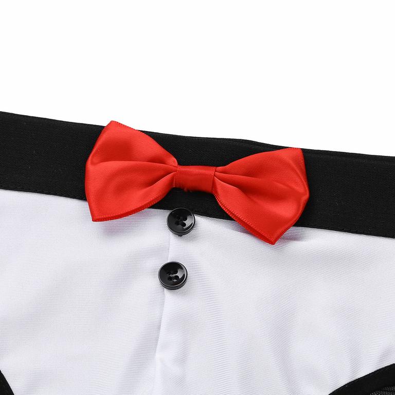 MSemis-3-pi-ces-hommes-Sexy-Lingerie-Costume-ensemble-voir-travers-maille-bout-bout-fend-slip