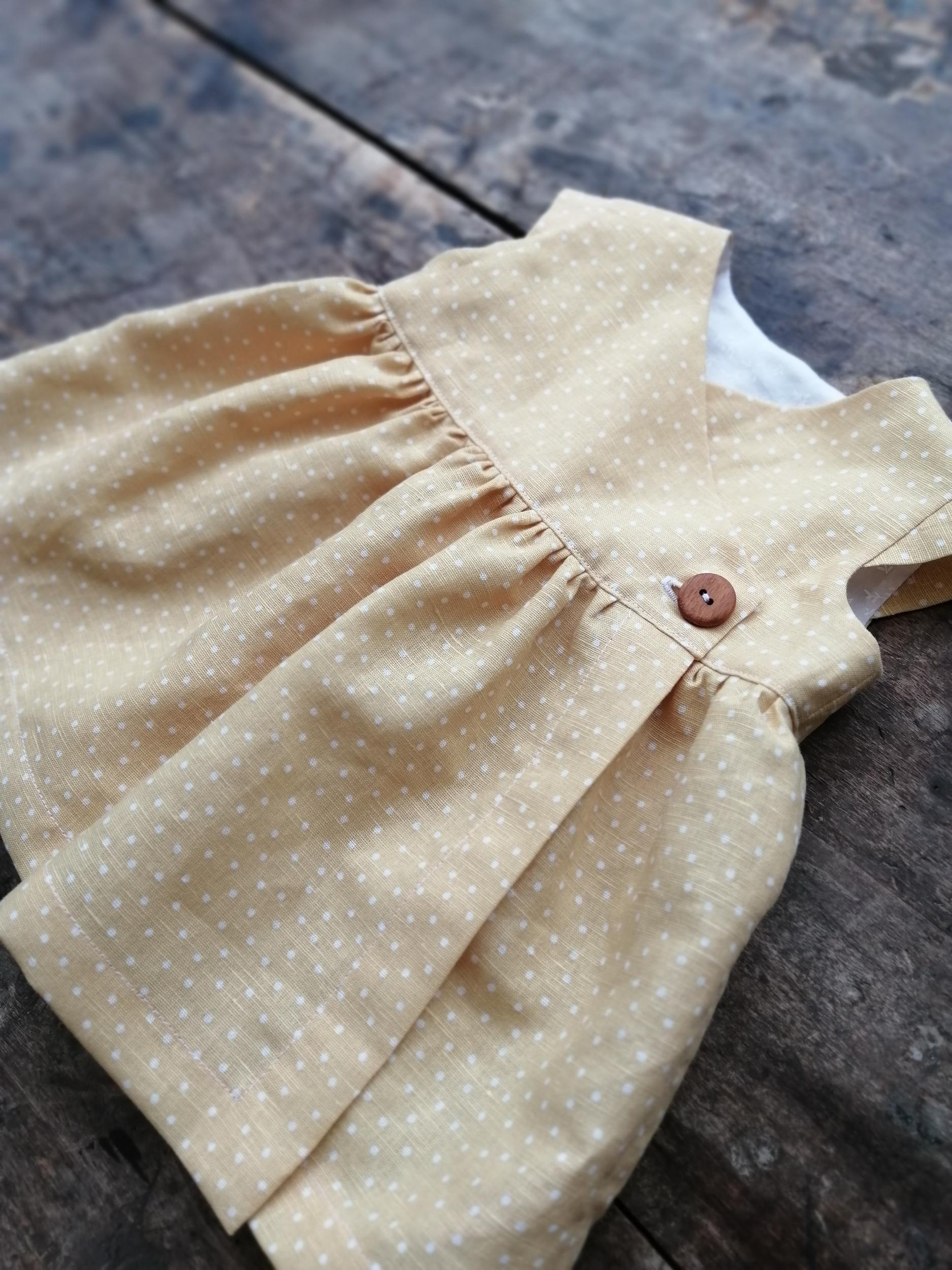 Robe croisée en lin pour bébé de 3 à 24 mois