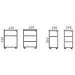 caisson de stockage ergonomique mobile