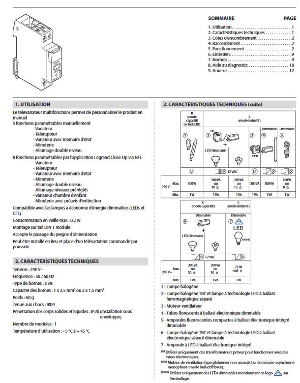 Legrand Modulaire Variateur Leds Legrand Legrand Leds Variateur Modulaire Modulaire 002671 002671 Variateur Leds y76bfg