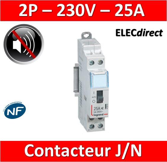 Legrand Contacteur Cx3 Jn Heures Creuses 25a Bipolaire Pour Chauffe Eau 412501