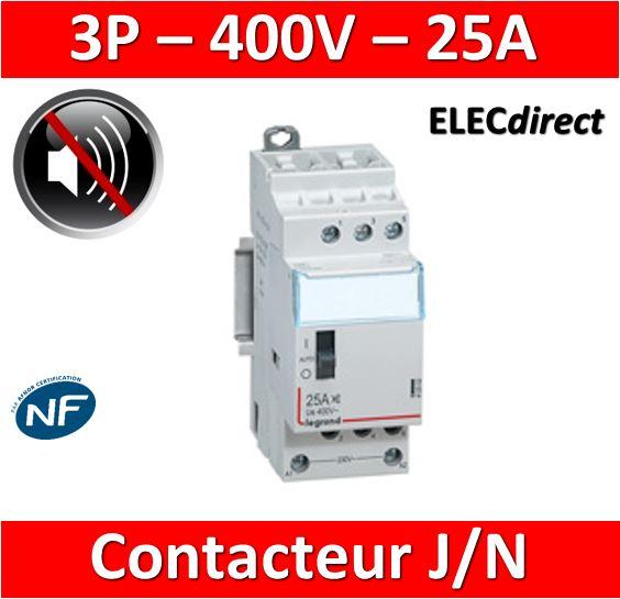 Legrand Contacteur J N Heures Creuses 25a 400v Tripolaire 412502