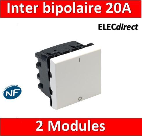 inverseur bipolaire 10A  Legrand mosaic 50