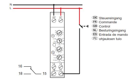 schema electrique temporisation