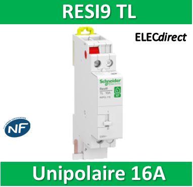 Télérupteur unipolaire Resi9 XP 16A 1 NO Schneider R9PCL116