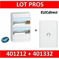 Legrand - LOT PROS - Coffret DRIVIA 26 Modules + porte - 401212+401332