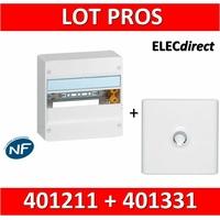 Legrand - LOT PROS - Coffret DRIVIA 13 Modules + porte - 401211+401331