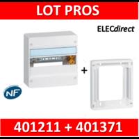 Legrand - LOT PROS - Coffret DRIVIA 13 Modules + rehausse - 401211+401371